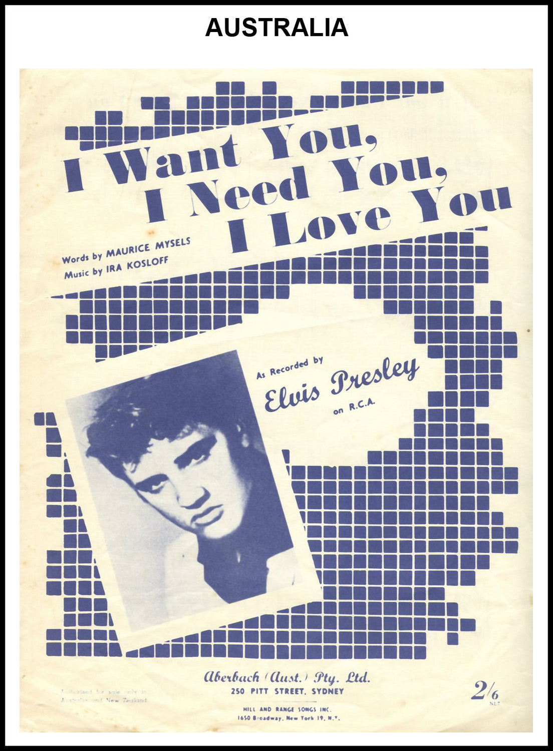 1956 - I Want You, I Need You, I Love You (Australia) 1 (CHRIS GILES COLLECTION)