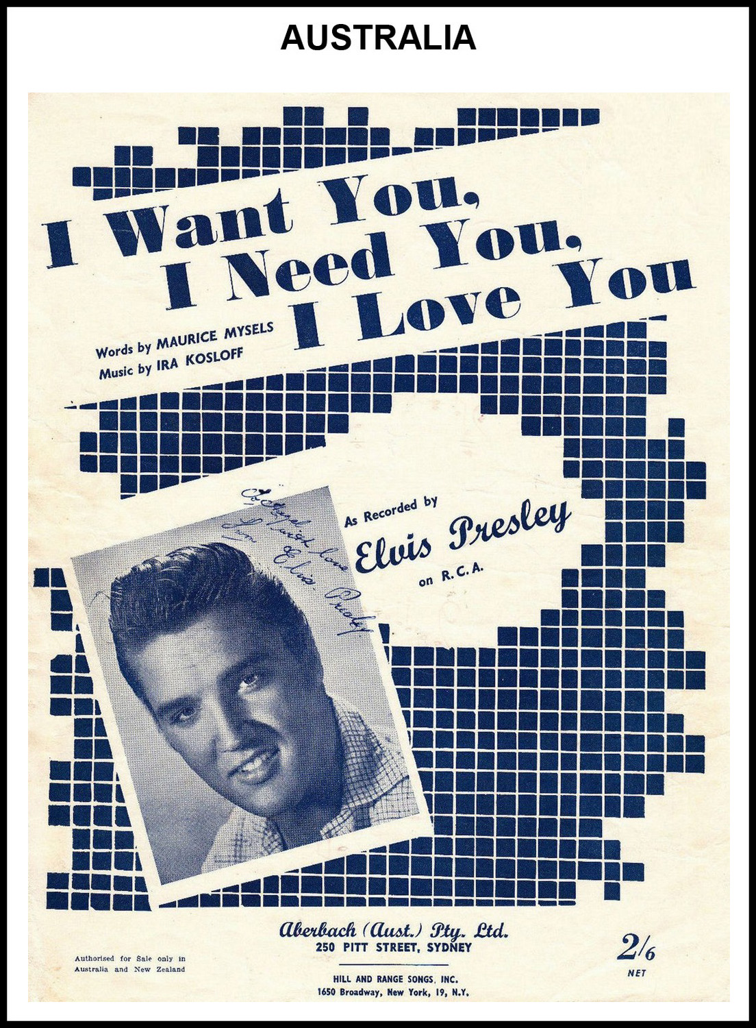 1956 - I Want You, I Need You, I Love You (Australia) 2 (CHRIS GILES COLLECTION)