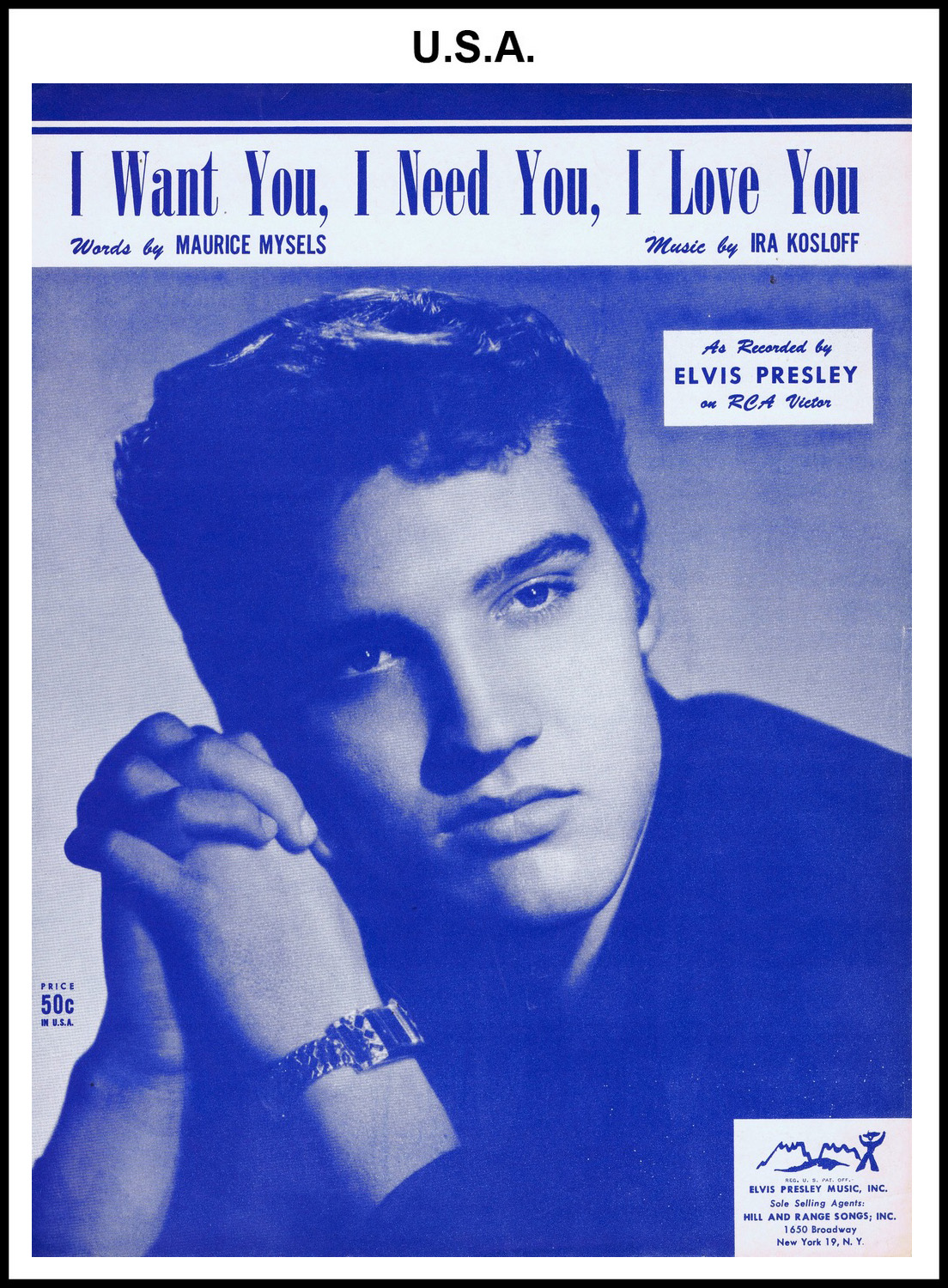 1956 - I Want You, I Need You, I Love You (USA 50c) (CHRIS GILES COLLECTION)