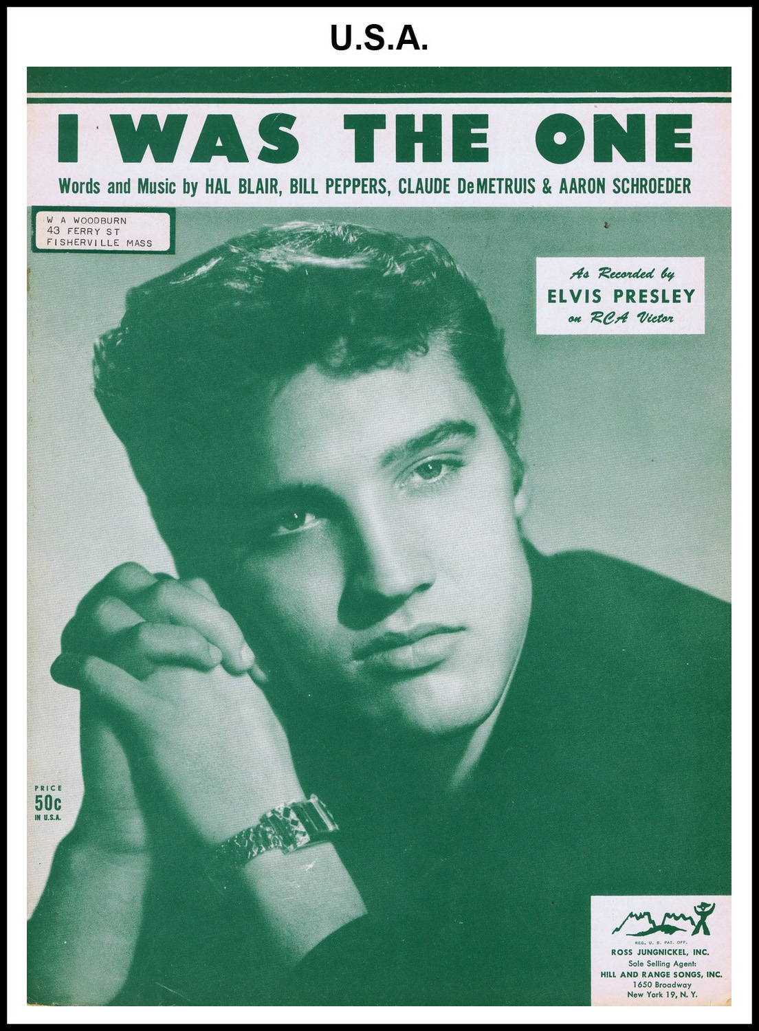 1956 - I Was The One (USA 50c) (CHRIS GILES COLLECTION)