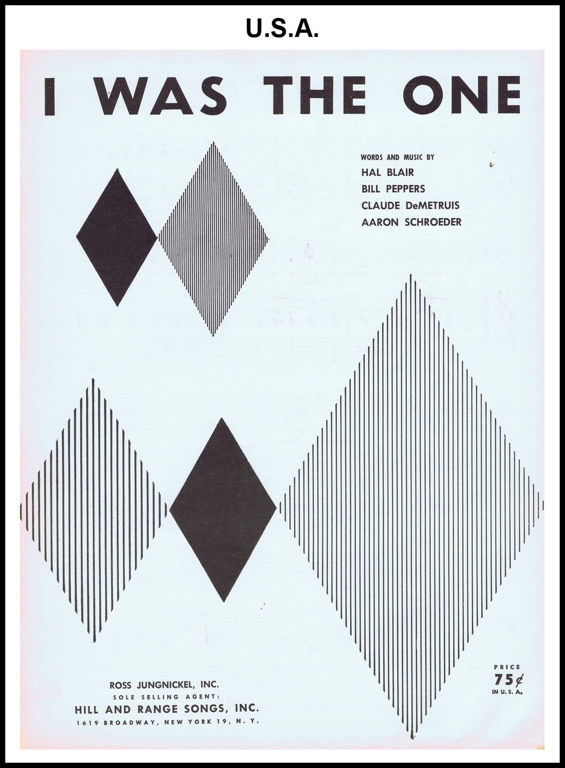 1956 - I Was The One (USA 75c) (CHRIS GILES COLLECTION)