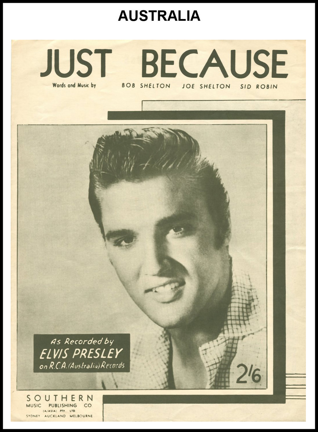 1956 - Just Because (Australia) (CHRIS GILES COLLECTION)