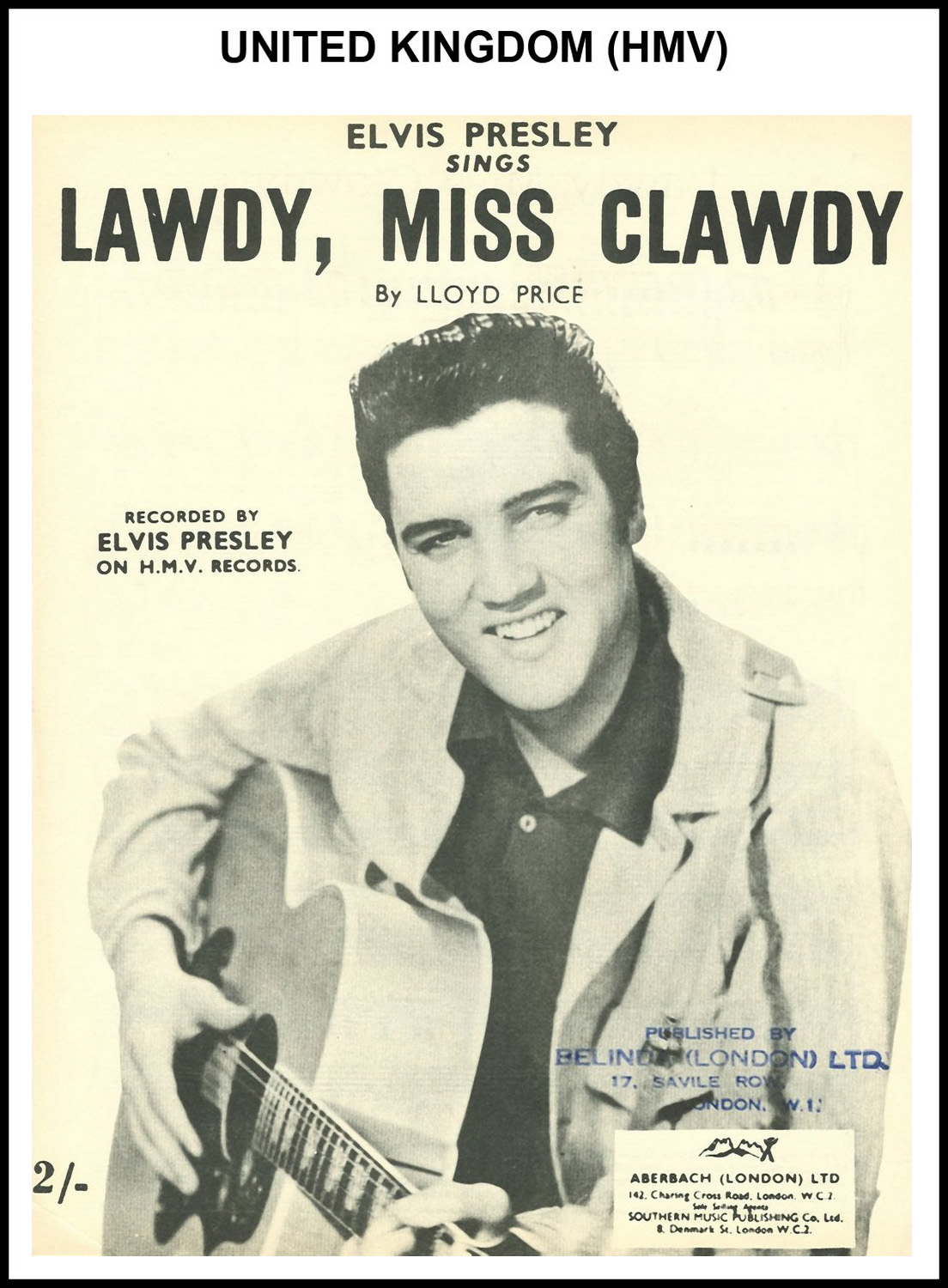 1956 - Lawdy, Miss Clawdy (UK, HMV) (CHRIS GILES COLLECTION)