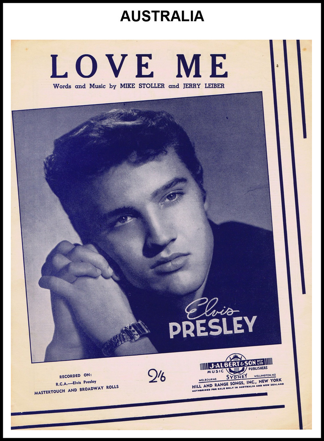 1956 - Love Me (Australia) (CHRIS GILES COLLECTION)