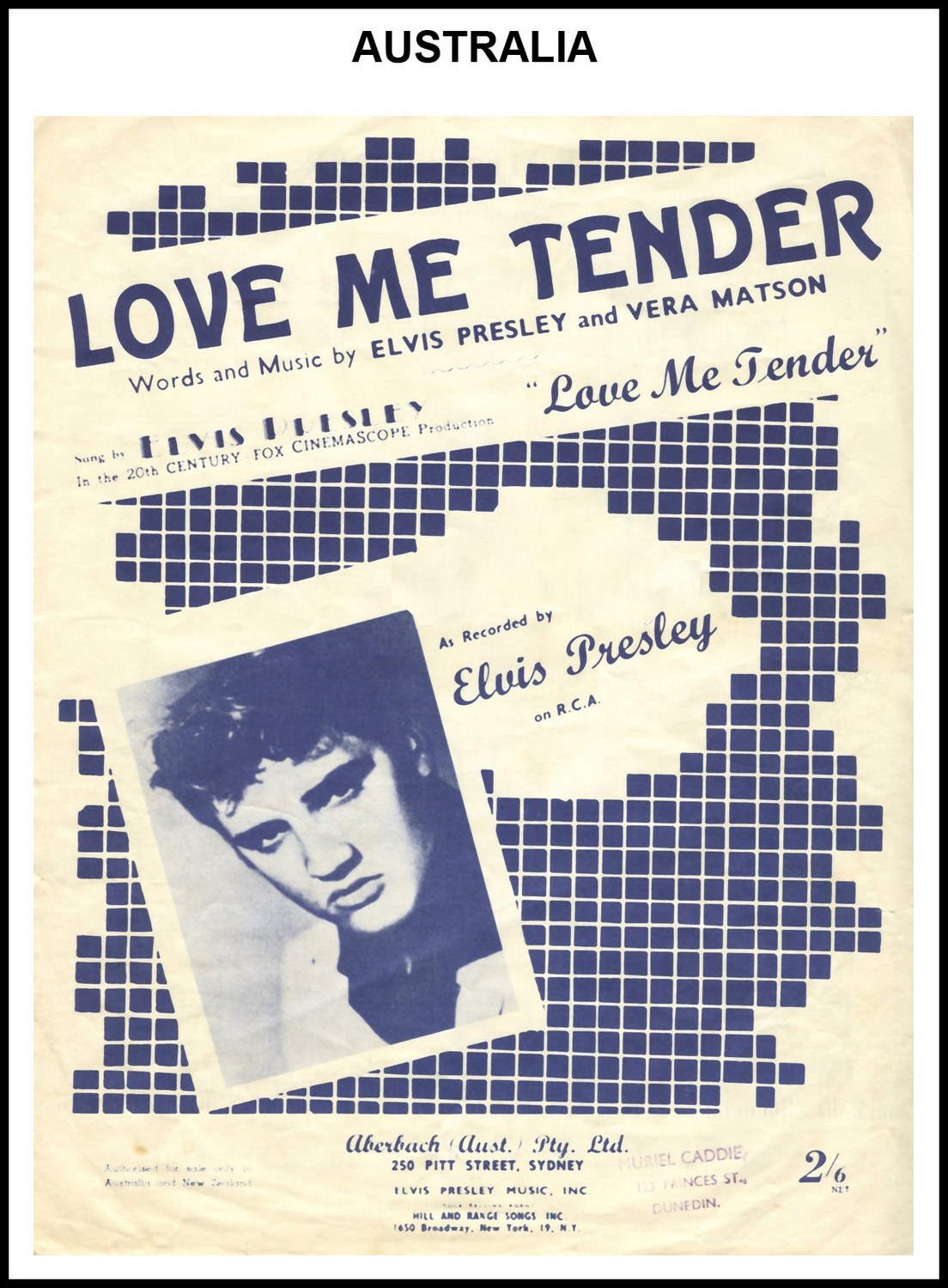 1956 - Love Me Tender (Australia) 1 (CHRIS GILES COLLECTION)