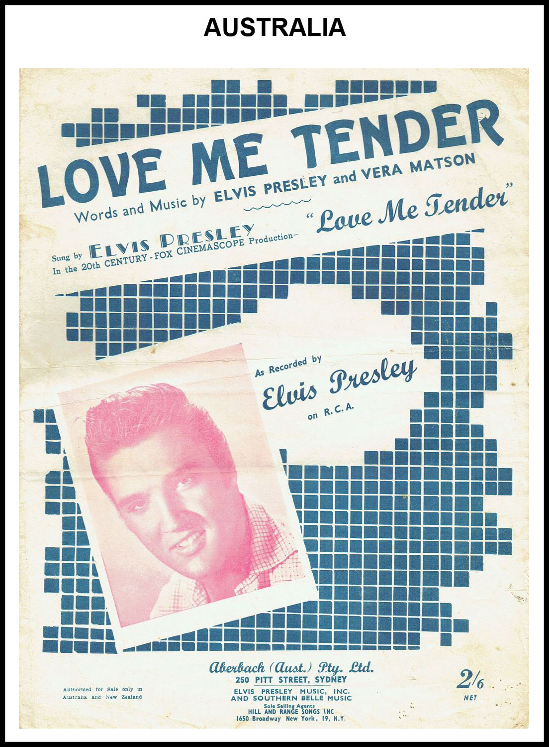 1956 - Love Me Tender (Australia) 2 (CHRIS GILES COLLECTION)