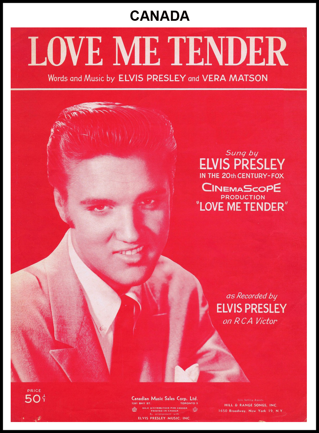 1956 - Love Me Tender (Canada) (CHRIS GILES COLLECTION)