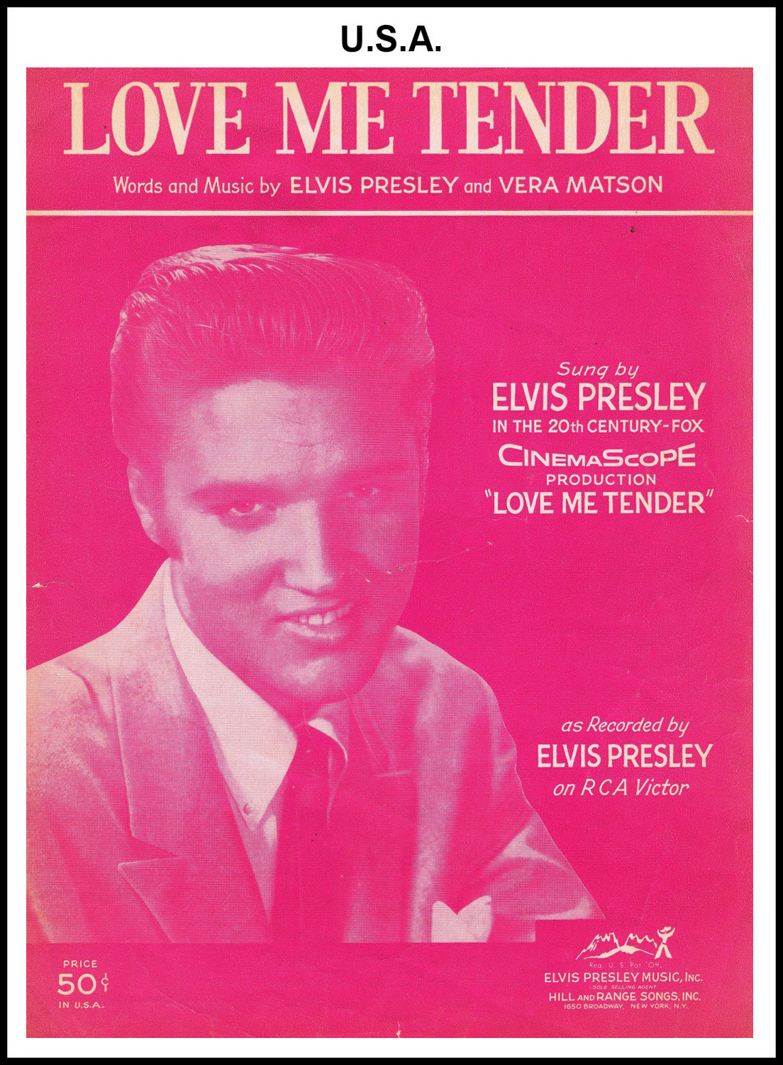 1956 - Love Me Tender (USA 50c) (CHRIS GILES COLLECTION)
