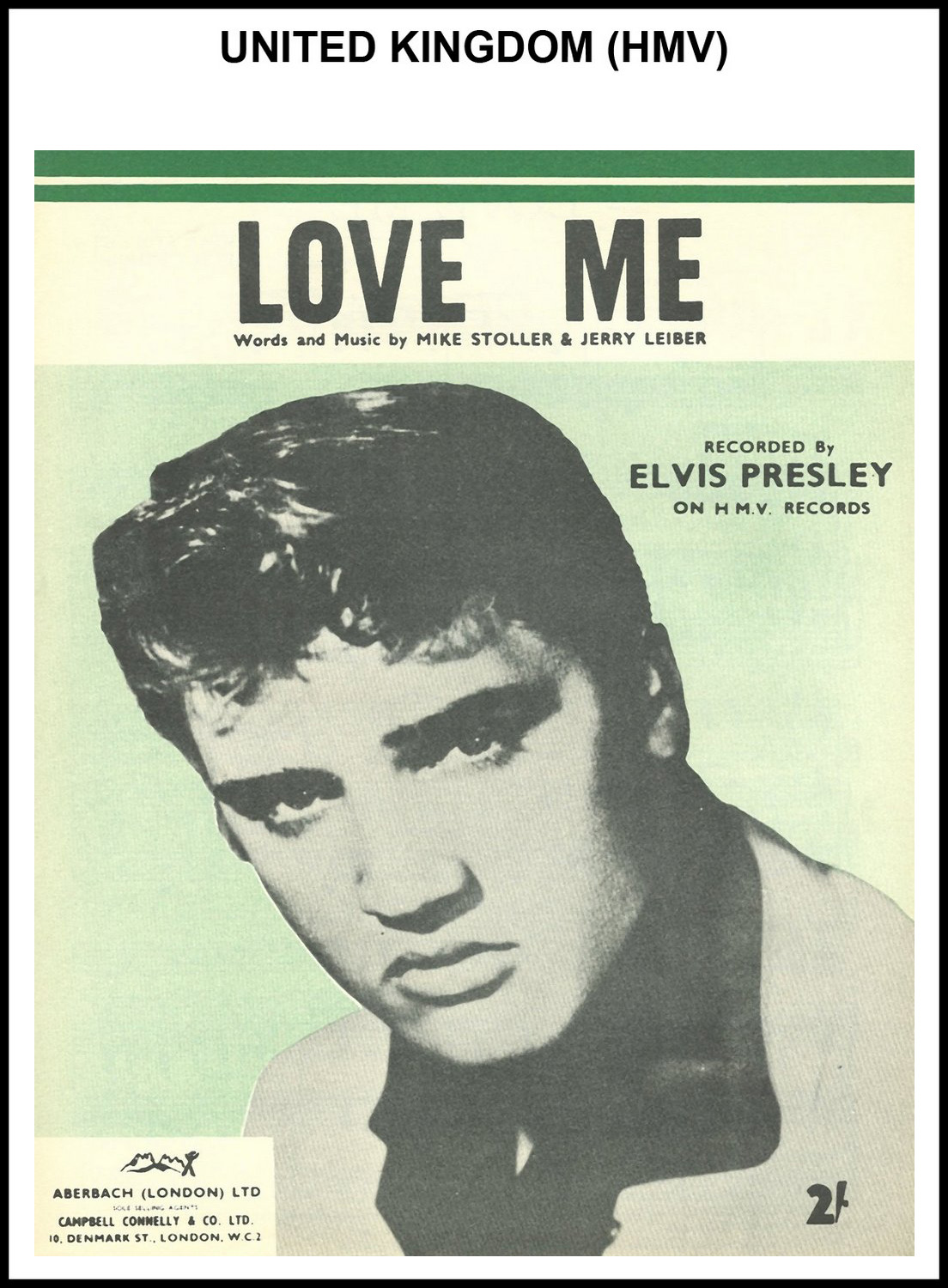 1956 - Love Me (UK, HMV) (CHRIS GILES COLLECTION)