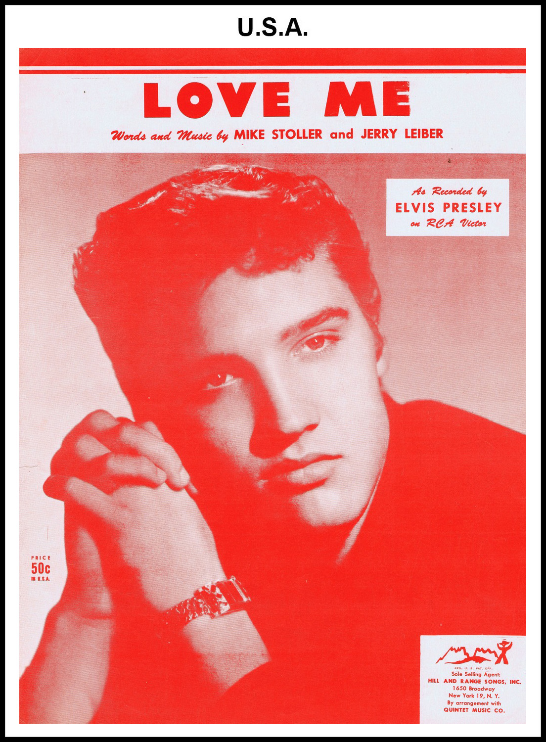 1956 - Love Me (USA 50c) (CHRIS GILES COLLECTION)