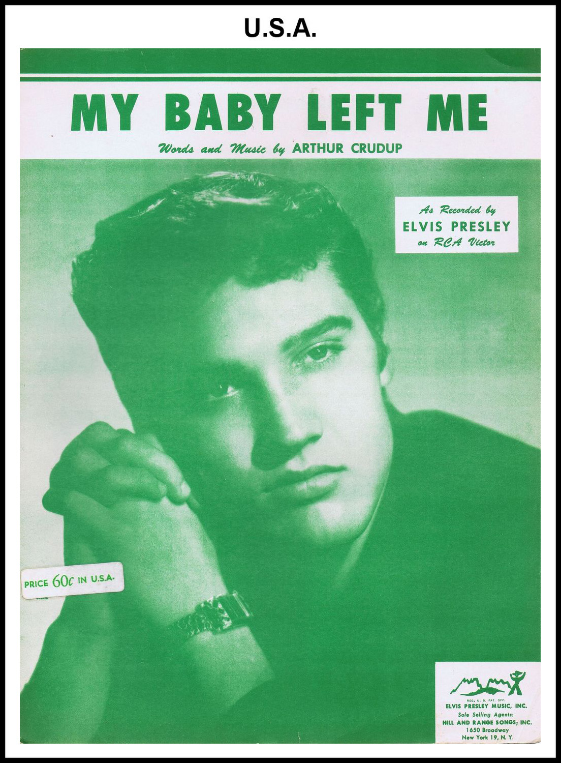 1956 - My Baby Left Me (USA 50c-60c) (CHRIS GILES COLLECTION)