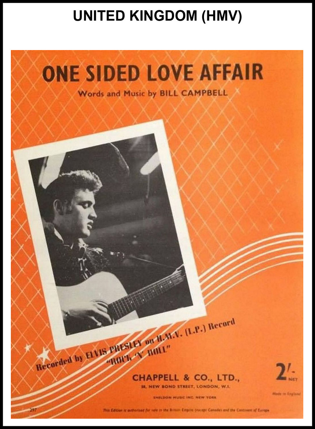 1956 - One Sided Love Affair (UK, HMV) (CHRIS GILES COLLECTION)