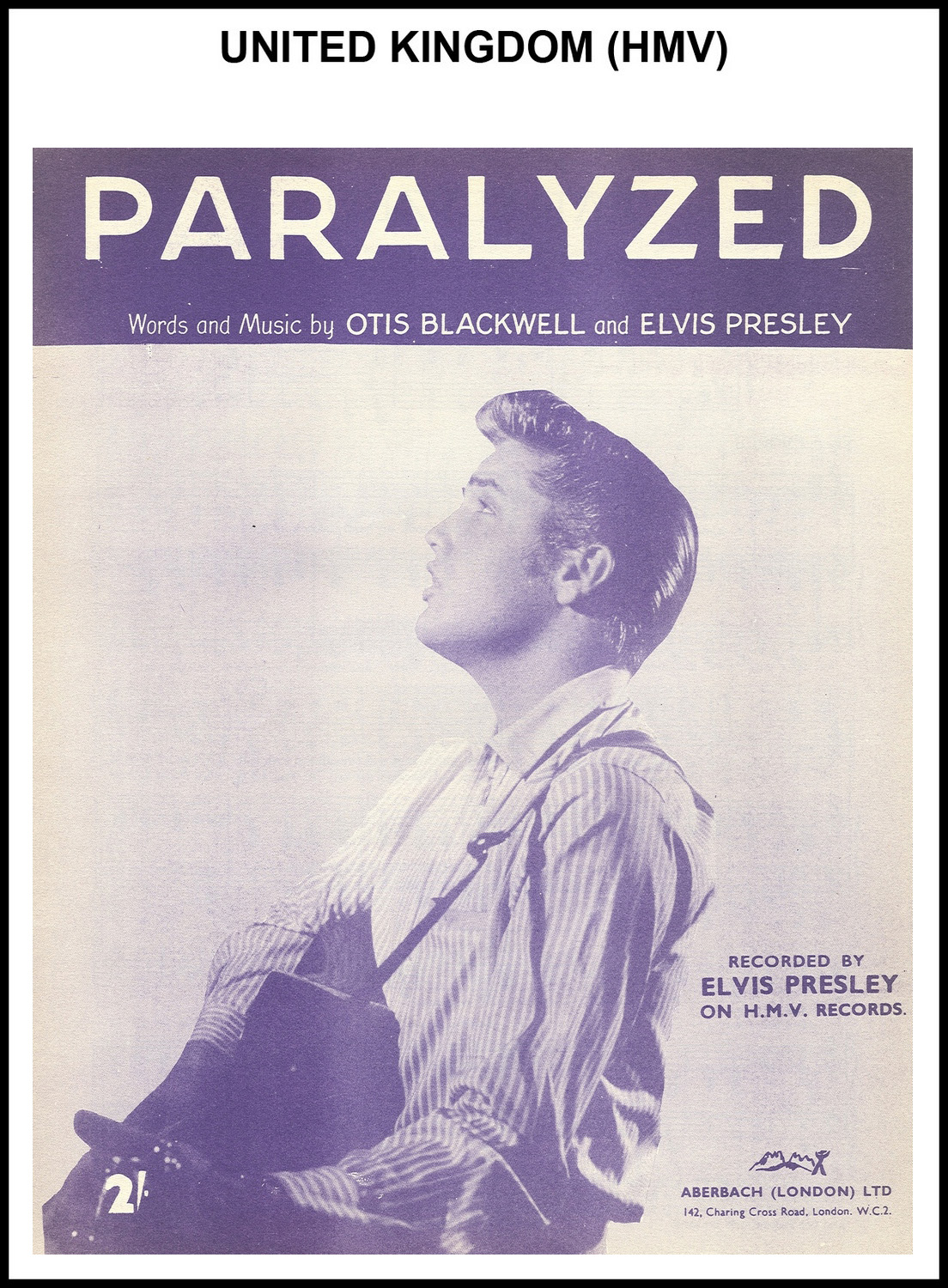 1956 - Paralyzed (UK, HMV) (CHRIS GILES COLLECTION)