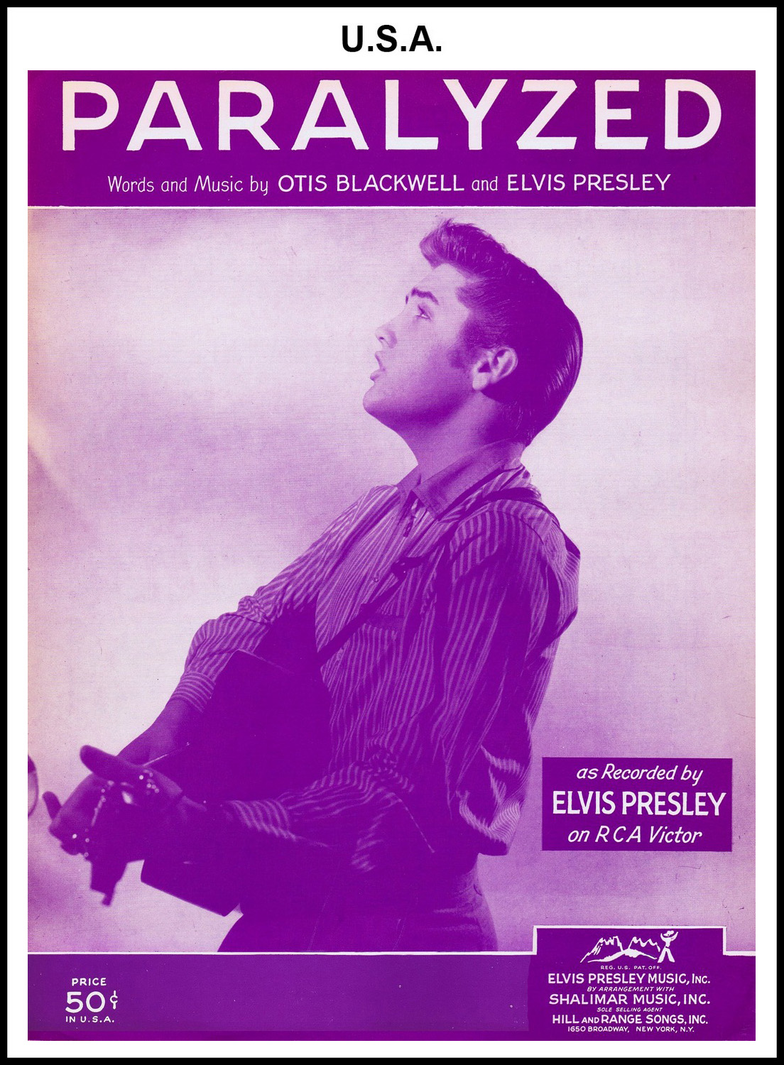 1956 - Paralyzed (USA 50c) (CHRIS GILES COLLECTION)