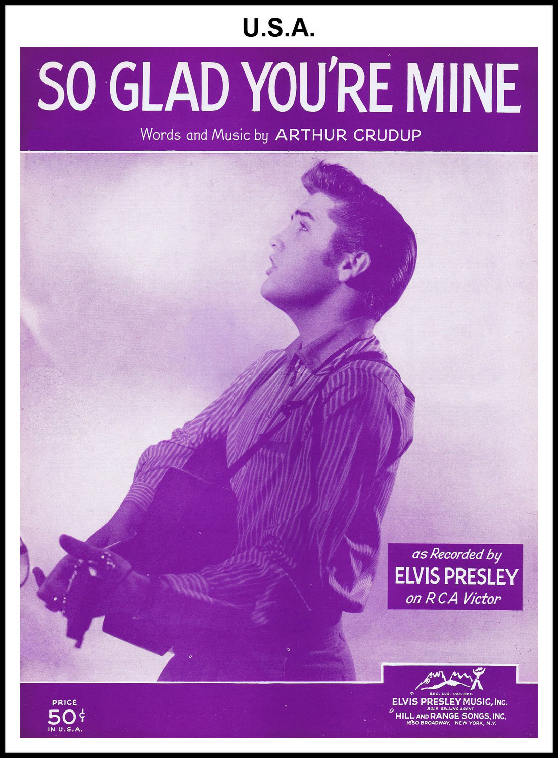1956 - So Glad You're Mine (USA 50c) (CHRIS GILES COLLECTION)