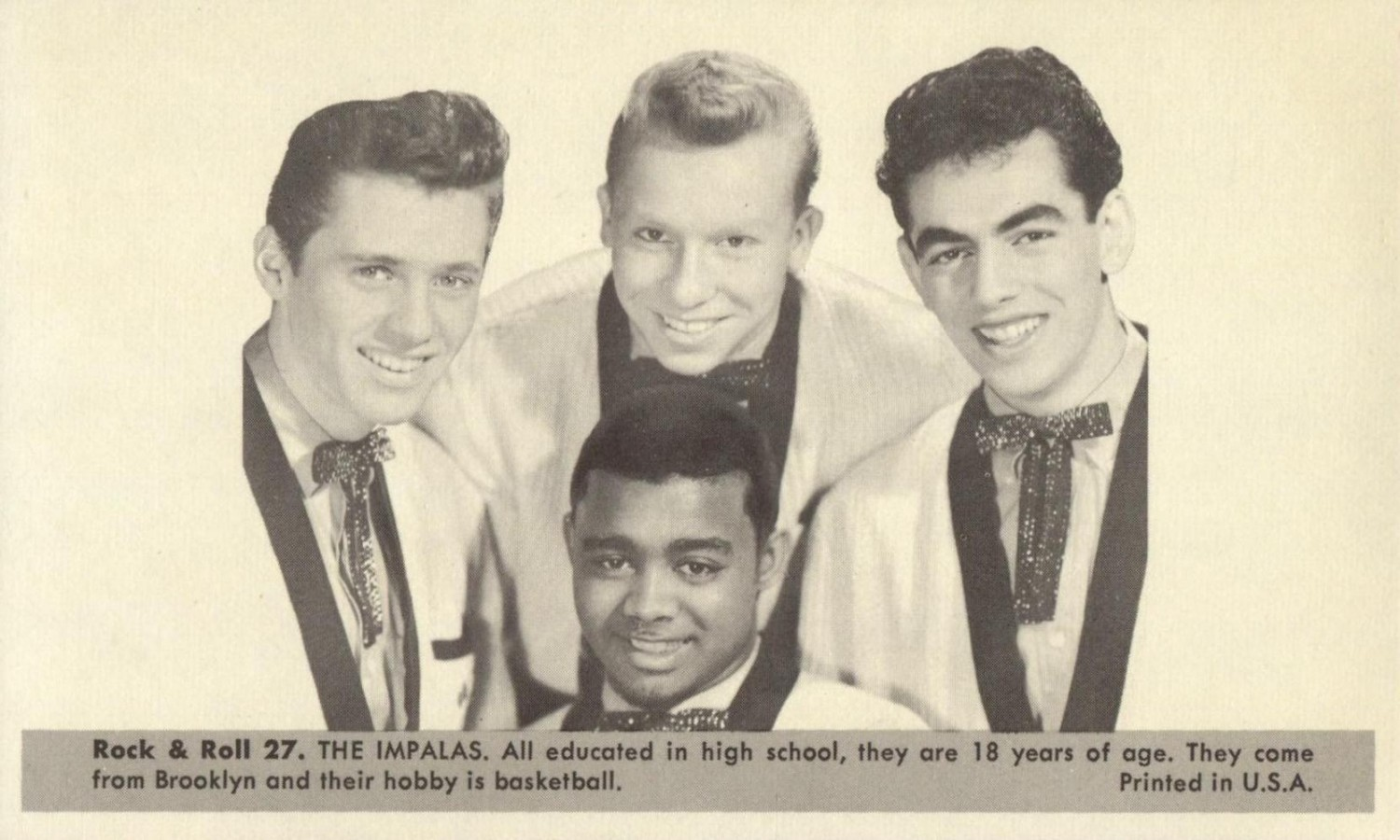 Nu Trading Cards (1959) Rock And Roll Stars 27