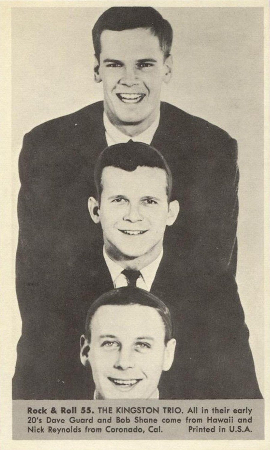 Nu Trading Cards (1959) Rock And Roll Stars 55