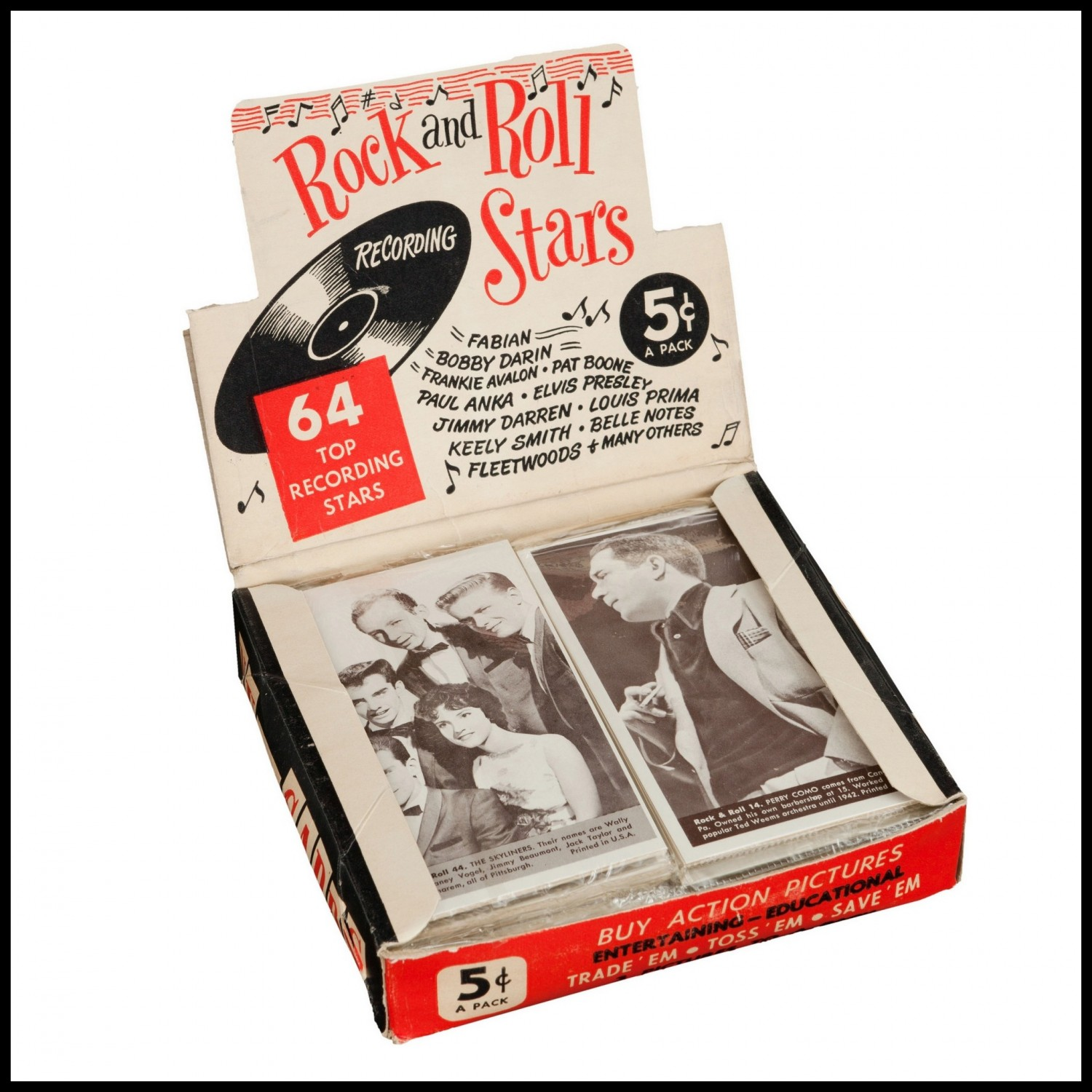 Nu Trading Cards (1959) Rock And Roll Stars box 01