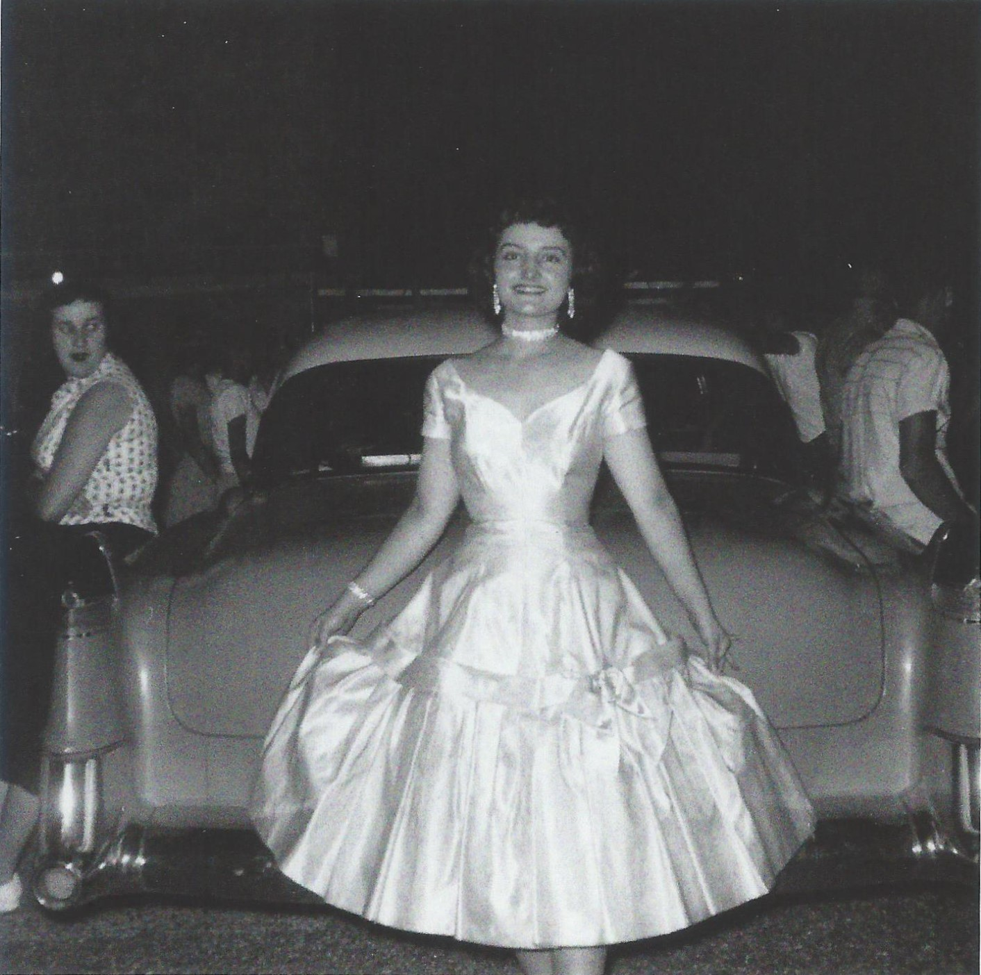 Cadillac 1954 with Shirley Searcy June 7 1955.