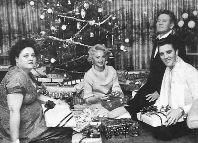 Elvis' Christmas at Audubon Drive December 24, 1956.