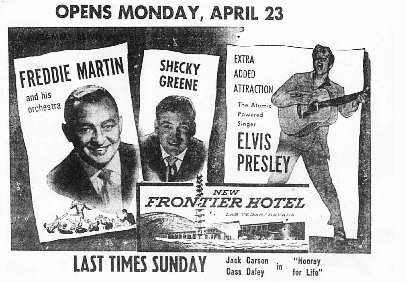 Elvis Presley Las Vegas 1956 New Frontier Hotel.