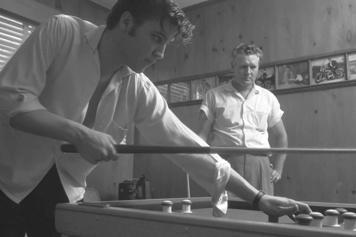 Elvis french pool table Audubon Drive May 29, 1956.