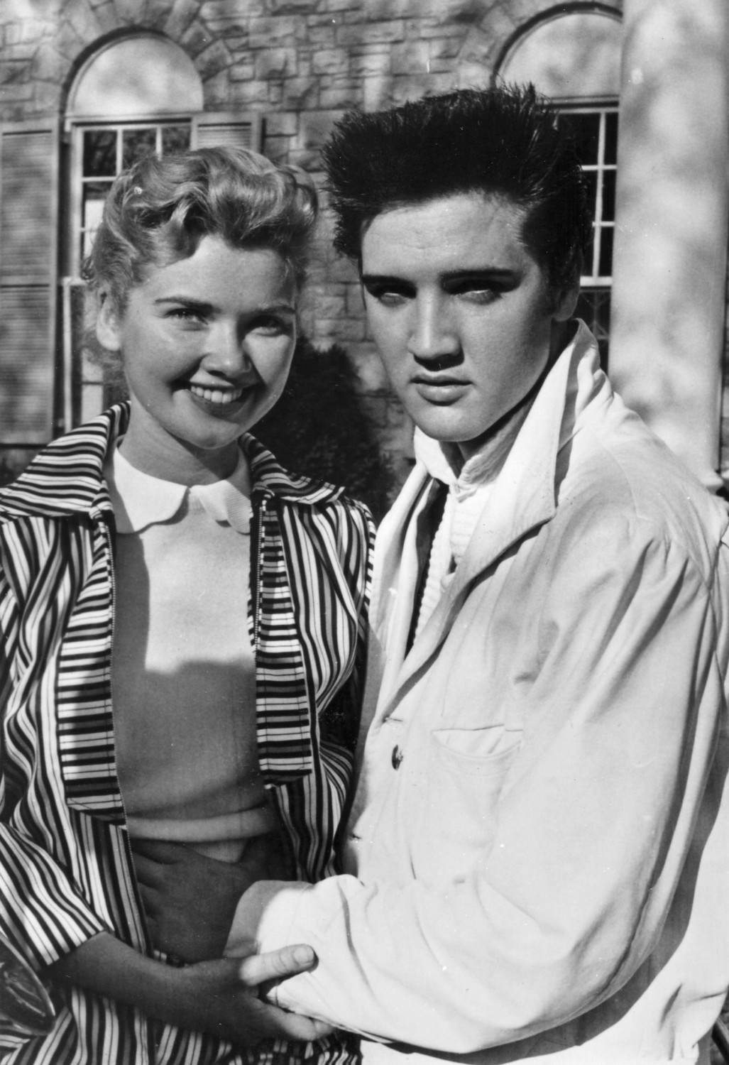 Elvis and Yvonne Lime Easter weekend at Graceland April 1957