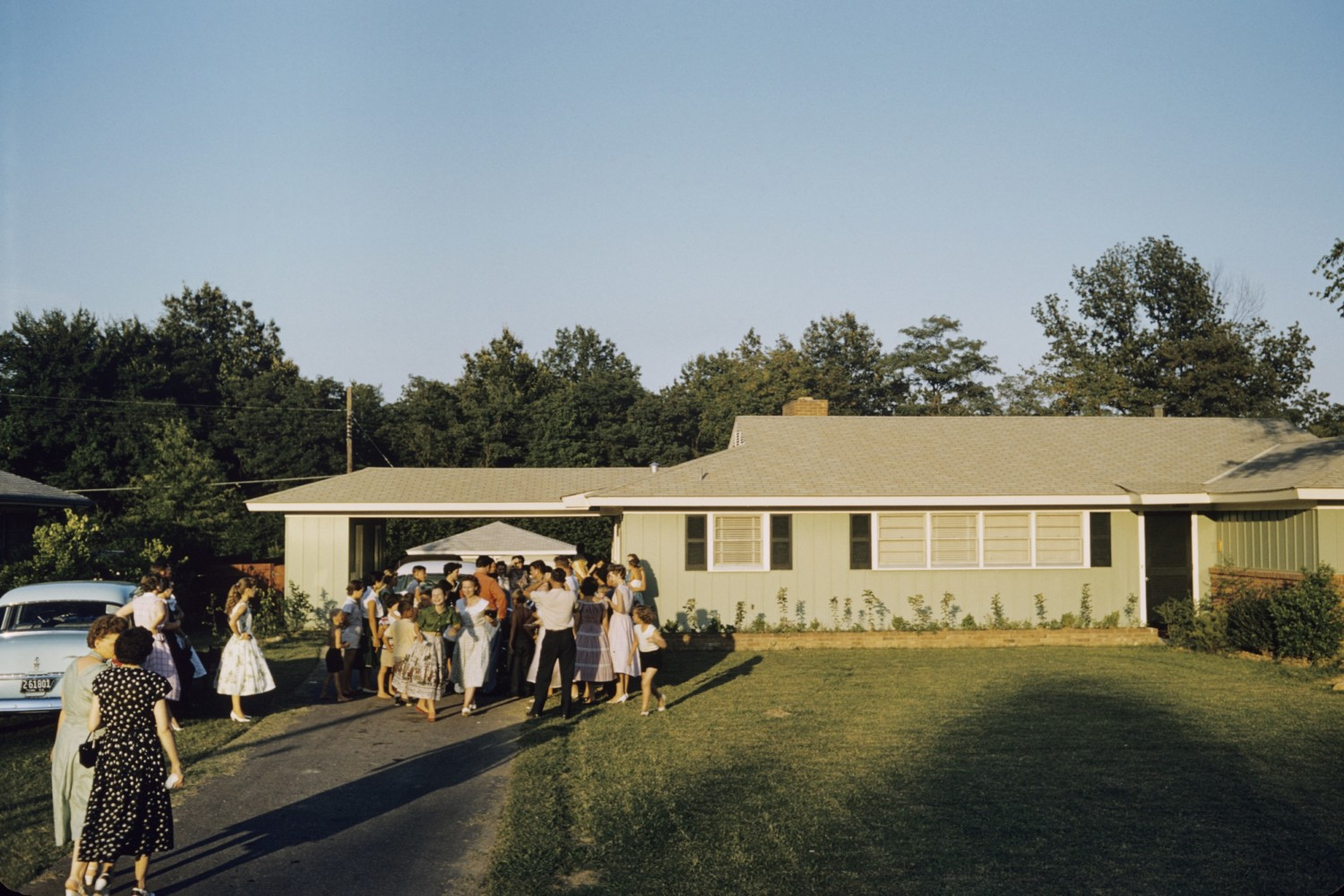 Elvis at Audubon Drive 1956. A Wertheimer July 1956